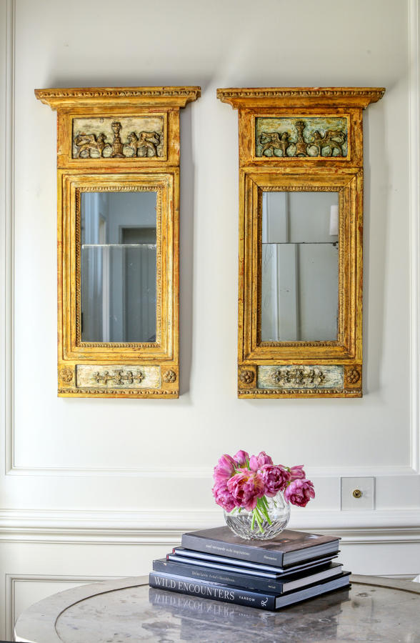 Pair of Empire mirrors
